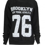 Fast-Fashion-Sweatshirt-Brooklyn-76-Impression-Toison-Femme-EUR-36-38-Brooklyn-Noir-0
