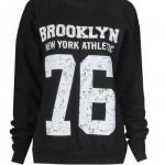 Fast-Fashion-Sweatshirt-Brooklyn-76-Impression-Toison-Femme-EUR-36-38-Brooklyn-Noir-0