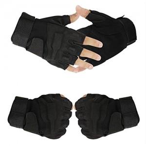 Tailcas-Militaire-Tactique-Gants-Glove-Demi-Doigt-Court-Gants-Moto-Musculation-Alpinisme-pour-Gym-Fitness-Sports-De-Plein-Air-Noir-Size-M-0