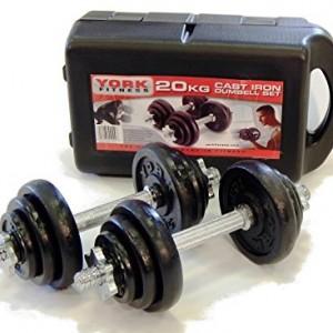 York-Fitness-Jeu-dhalteres-en-fonte-de-20-kg-avec-valise-noirargent-0