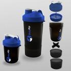 BodyRip-Protine-Shaker-400-500-ml-3-Niveau-Mitigeur-Bleu-Bleu-26cm-x-95cm-0