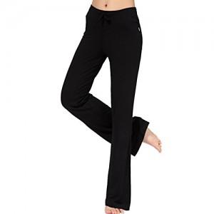 Femme-pantalon-de-Yoga-danse-du-ventre-Fitness-pants-sport-Noir-Fabricant-taille-2XL-EU-taille-L-0