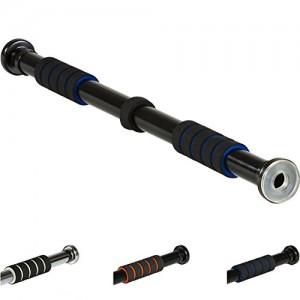 MOVIT-Barre-de-traction-avec-revtement-souple-cts-en-caoutchouc-transparent-couleur-noirblue-jusqu-350-kg-0