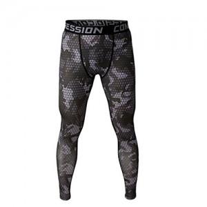 Pantalon-de-Sport-Homme-Legging-de-Compression-Disco-Vtement-Haute-lasticit-Gris-XL-0