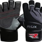 RDX-Cuir-De-Vachette-Gym-Gants-de-Musculation-Homme-dentrainement-Gloves-Gymnastique-Halterophilie-Sport-Exercice-Fitness-GrisNoir-M-0