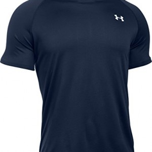 Under-Armour-Tech-T-Shirt-manches-courtes-Homme-Midnight-Navy-FR-M-Taille-Fabricant-MD-0