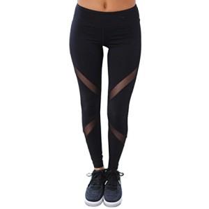 Amlaiworld-Femmes-Maille-Pantalons-de-Sport-Leggings-de-Sport-Yoga-Pilates-Plank-Jogging-et-Fitness-S-Noir-0