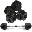 Body-Revolution-Vinyle-Haltre-Haltre-Ensemble-Rglable-Gratuit-Poids-10kg-15kg-20kg-30kg-40kg-50kg-Noir-50-kg-0