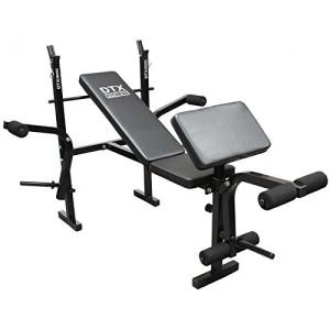 DTX-Fitness-Banc-de-Musculation-Tout-En-Un-pour-Haltres-avec-Pupitre-a-Curl-Papillon-0