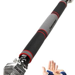 Sportstech-Barre-de-traction-pour-porte-avec-systme-de-fixation-hexagonale-KS200-3-couches-de-rembourrage-levier-de-serrage-6-points-de-pression-design-gris-incl-Gants-cadre-de-porte-65--103cm-0