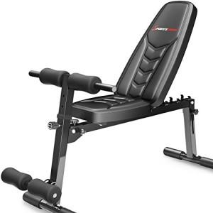 Sportstech-Banc-dhaltrophilie-innovant-BRT500-Banc-de-musculation-8-en-1-matriau-de-rembourrage-en-EVA-dispositif-pliable-intelligent-antidrapants-poignes-pour-push-up-fixation-pour-jambes-0