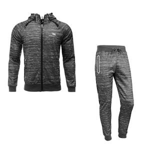 Airavata-Homme-Ensemble-Pantalon-de-Sport-Sweatshirt--capuche-Jogging-Survtement-Gris6-Small-0