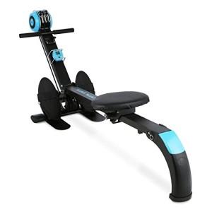 CAPITAL-SPORTS-Stringmaster--Rameur-dappartement-pliable--Machine-aviron-de-musculation-et-entrainement-fitness--Charge-max-de-100kg--Ordinateur-de-bord--Construction-mtal-robuste--Bleu-0