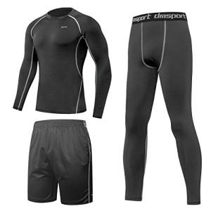 Ensembles-Sportswear-Hommes-3-Pieces-SPARIN-Costumes-Sport-Homme-Sechage-Rapide-Gym-Yoga-Athletisme-Fitness-Jogging-Survetement-Vetements-De-Fitness-M-0
