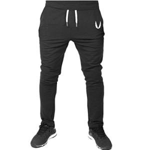 Internet-Homme-Pantalon-de-Sport-en-Polyester-Casual-Baggy-Pantalon-de-Jogging-Respirant-Pantalon-de-Entranement-Elastique-Gym-Fitness-Sweatpants-Drawstring-Pantalons-de-Course-M-Noir-0