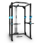CAPITAL-SPORTS-Tremendour--Power-Rack--cage-squat--station-de-musculation--2-x-Safety-Spotter-20-hauteurs--4-x-J-Hooks--barre-de-traction-multiprise--construction-massive-en-acier--noir-0