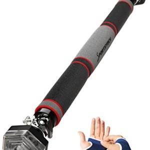 Sportstech-Barre-de-traction-porte-noire-tlscopique-avec-systme-de-fixation-hexagonale-KS200-levier-de-serrage-pull-up-rembourrage-main-musculation-murale-fitness-scuris-Gants-dentranement-0