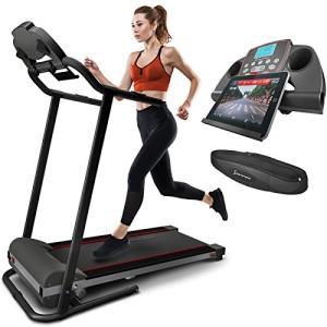 Sportstech-Tapis-de-Course-lectrique-Pliable-F10-Compatible-Bluetooth-Smartphones-avec-Ceinture-Cardio-10-KMH-Autolubrifi-Compact-et-Repliable-13-Programmes-pour-Marche-Jogging-et-Fitness-0