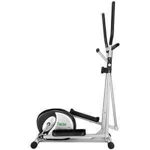 Finether-Vlo-Elliptique-Fitness-Gym-Mixte-Adulte-Vlo-dappartement-Trainer-la-Frquence-Cardiaque-Ecrans-LCD-Pouls--la-Main-8-Niveaux-de-Rsistance-Capacit-120-kg-0