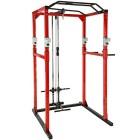 TecTake-Station-de-musculation-cage-de-musculation-Double-barre-de-traction-Barres--dips-embotables-diverses-couleurs-et-modles-Rouge-Noir-Lat-No-402738-0