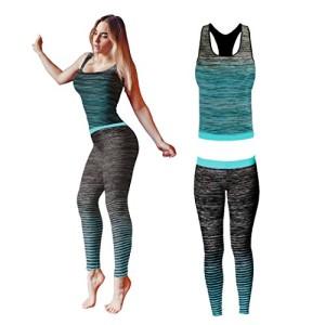 Bonjour-Vtements-de-sport-pour-femmes-ensemble-veste-gilet-et-top-legging-stretch-fit-pour-yoga-et-gymnastique-Turquoise-Vest-Top-One-Size-UK-8-14-0
