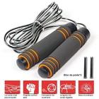 Corde--Sauter-Skipping-Rope-Facilement-Rglable-3-m-Cble-Roulements--Billes-en-Acier-Ergonomique-Qualit-suprieure-La-Poigne-Souple-pour-Fitness-Boxe-Crossfit-Gym-Comprend-2-Blocs-de-poids-0