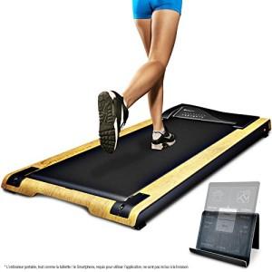 DESKFIT-Tapis-de-marche-pour-bureau-table-DFT200-Walkstation-Fitness-sport-course--la-maison-ou-au-bureau-travailler-en-marchant-prserve-le-dos-ergonomique-porte-tablette-tlcommande-Brun-clair-0