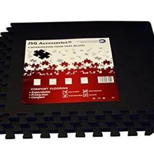 JSG-Accessories-Tapis-de-Sol-pour-extrieurintrieur--emboter-Rversible-pour-Salle-de-Sport-Aire-de-Jeux-Exercice-Yoga-Noir-par-Lot-de-4-16-32-ou-48-Noir-Noir-4-Mats-16-Square-Feet-0