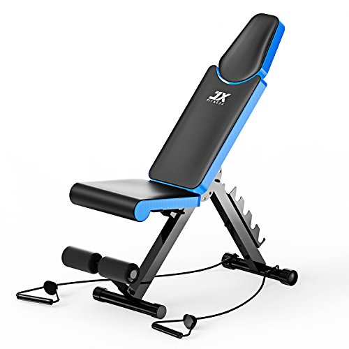 Achat jx fitness banc de musculation pliable banc de poids gymnastique domicile - Banc de musculation plat ...