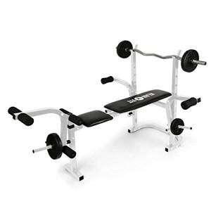 Klarfit-HB3BC-W-Banc-dentranement-Curler-pour-bras-jambes-biceps-mollets-quadriceps-charge-maximale-160kg-dossier-rglable-et-rembourr-support-blanc-0
