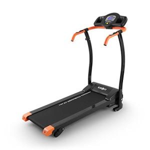 Klarfit-Pacemaker-X3-Tapis-de-Course-Home-Trainer-15-ch-08-12-kmh-cardiofrquencemtre-LCD-12-programmes-capteur-de-pouls-Inclinaison-3-5-ou-7-Pliant-Noir-Orange-0