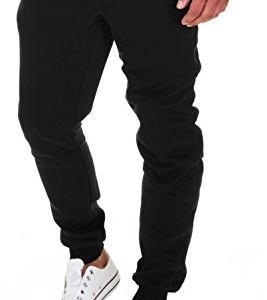 Merish-Pantalons-de-Sport-pour-Homme-Pantalons-pour-Les-Loisirs-Les-Sports-et-la-Maison-Modell-211-Noir-L-0