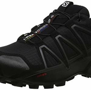 Salomon-Homme-Speedcross-4-Chaussures-de-Trail-Running-Noir-BlackBlackBlack-Metallic-Taille-43-13-0