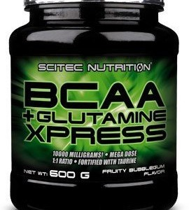 Scitec-Nutrition-Acides-Amins-BCAA-Glutamine-Xpress-Pomme-600-g-0