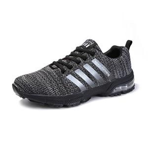 Senbore-Chaussures-de-Sport-Basket-Running-Respirantes-Athltique-Sneakers-Course-Fitness-Tennis-Homme-Gris-46-EU-0