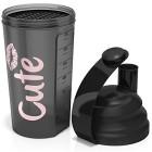 ShakerGourde-sport-pour-femmes-noir-et-rose-pour-les-milk-shakes--protine-et-autres-boissons-Bouteille-700-ml-saine-sans-BPA-passe-au-lave-vaisselle-Programme-de-remise-en-forme-offert-0