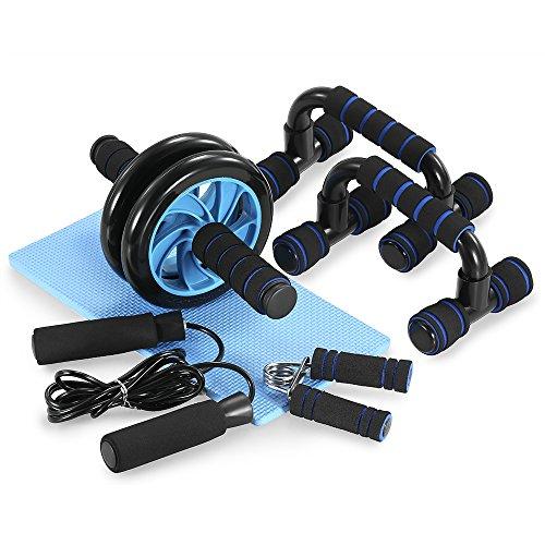 Achat tomshoo appareils de fitness 5 en 1 roue abdominale poign e de pompe - Tapis de musculation abdominale ...