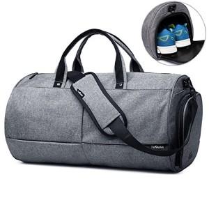 Valleycomfy-Sac-de-sport-Gym-Sacs-Chaussures-de-grande-capacit-avec-poche--la-mainpaulesac-en-bandoulire-Fitness-bagages-Sacs-de-Gris-0