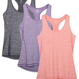 icyzone-Dbardeur-et-Tops-de-Sport-Gilet-Femme-T-Shirt-sans-Manches-Yoga-Fitness-Elastic-Vest-XXL-Gris-foncLavandePche-0
