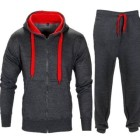 Homme-Contraste-Corde-Sweat--Capuche-Pantalon-Gym-Survtement-Taille-S-M-L-XL-0