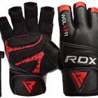 RDX-Gants-de-Musculation-Poignet-Longue-Workout-Crossfit-Fitness-Gymnastique-Entrainement-Cuir-Vachette-Powerlifter-Halterophilie-Gym-Gloves-0
