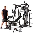 Marcy-MD-9010G-Home-Gym-Smith-Machine-Black-Removable-Weight-Bench-Linear-Ball-Bearings-272kg-Weight-Load-by-Marcy-0