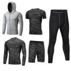 Dooxii-Homme-5-Pices-Vtements-de-Sport-avec-Hoodies-Vestes-Manches-Courtes-Manches-Longues-Shirt-Compression-Collant-Short-Schage-Rapide-Workout-Ensemble-de-Fitness-Tenuede-Sportswear-M-0