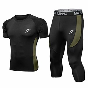 MEETEU-Ensemble-Compression-Homme-Tenue-Sport-Fitness-Vtement-Maillot-Tee-Shirt-Compression-Collant-34-Homme-Legging-Running-Jogging-0