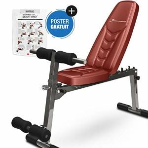 Sportstech-Banc-de-Musculation-BRT100500-Appareil-Multifonction-Pliable-inclinable-muscu-Entrainement-rglable-poignes-Push-up-Fitness-Muscles-abdominaux-Jambes-0