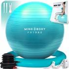 Ballon-de-Gym-ou-Swiss-Ball-de-Mind-Body-Future-Gym-Swiss-Ball-pour-Pilates-Yoga-Grossesse-Fitness-Robuste-Antidrapant-Hypoallergnique-55-cm-Livr-avec-Base-et-Pompe-Turquoise-0