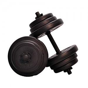 Focus-Fitness-Kit-dhaltres-rglables-pour-Homme-et-Femme-Noir-20-kg-0