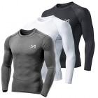 MEETYOO-Tee-Shirt-Compression-Homme-Manche-Longue-Baselayer-Maillot-Running-Vetement-Fitness-pour-Sports-Jogging-Musculation-Noir-Gris-Blanc-L-0