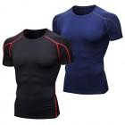 Niksa-Tee-Shirt-Compression-Homme-Manches-Courtes-Maillot-Compression-Running-T-Shirt-Noir-Marine-M-0
