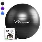 Reehut-Ballon-Fitness-Yoga-Balle-dExercice-Antidrapant-Balle-Gymnastique-avec-Pompe-pour-Entranement-Grossesse-Equilibre-Chair-Noir-55cm-0